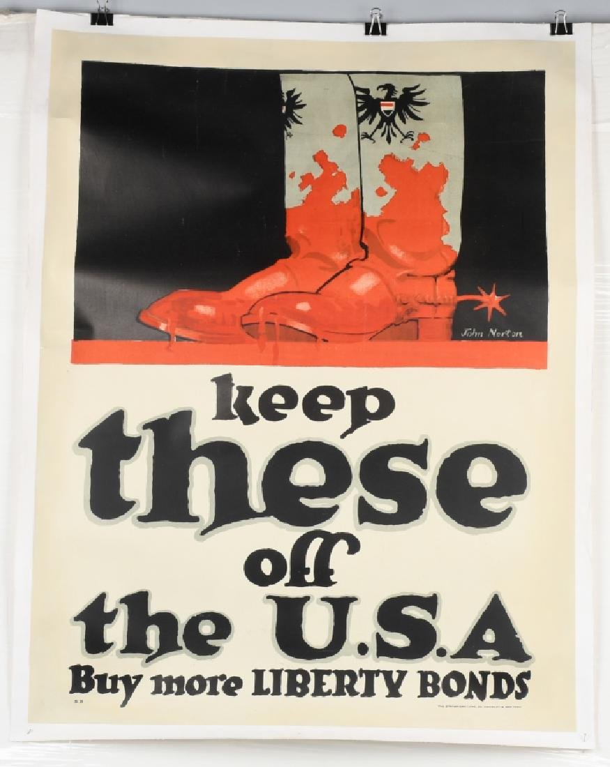 WWI US LIBERTY BONDS POSTER BY JOHN NORTON
