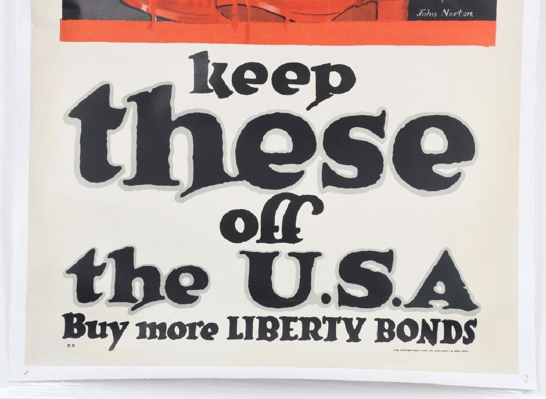WWI US LIBERTY BONDS POSTER BY JOHN NORTON - 3