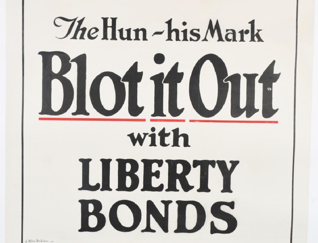 WWI US LIBERTY BONDS POSTER BY J. ALLEN ST. JOHN - 3