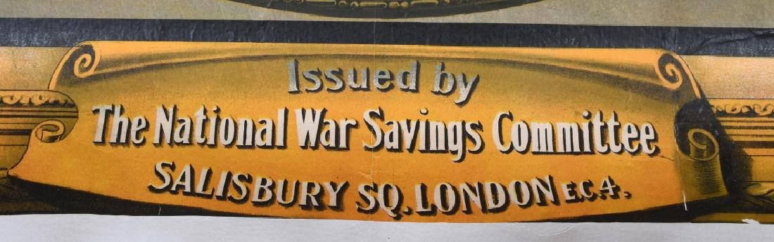 "WWI BRITISH NATIONAL WAR BONDS POSTER 37.5"" X 57.5 - 5"