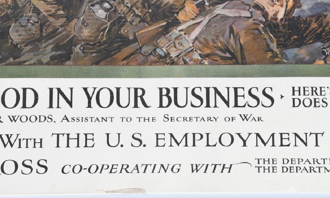 WWI AMERICAN RED CROSS POSTER - EMPLOY VETERANS - 5
