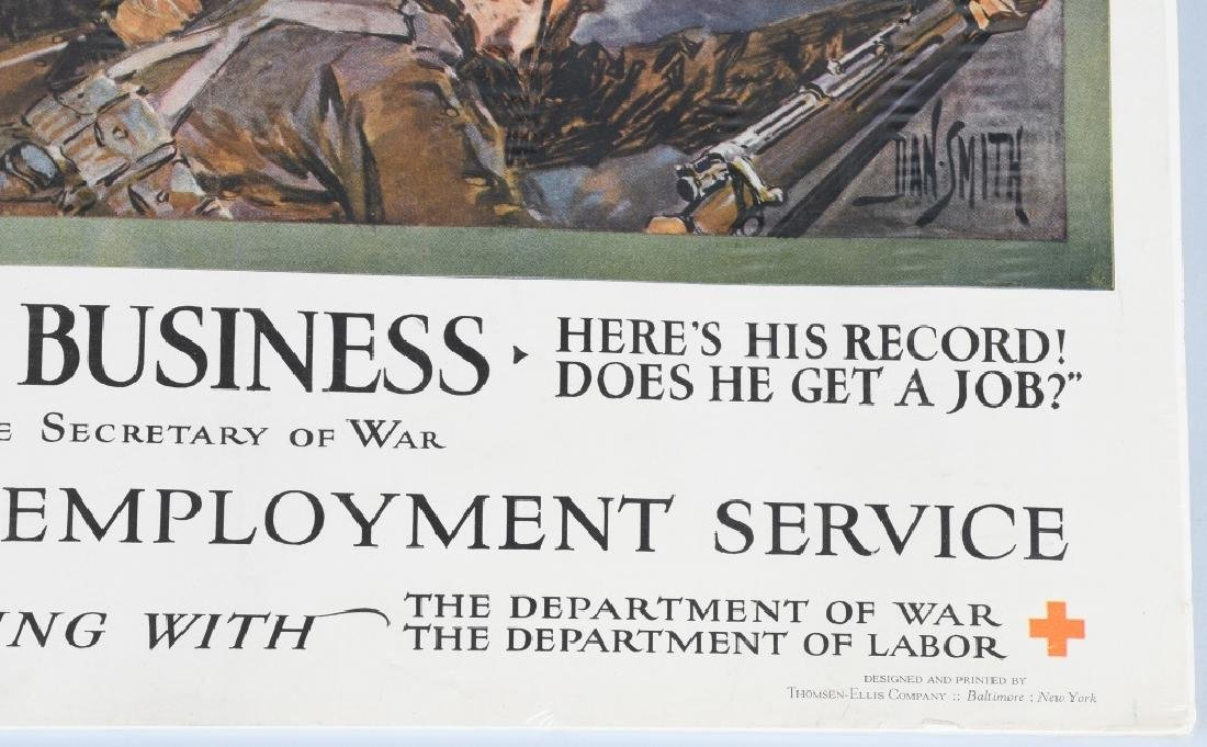 WWI AMERICAN RED CROSS POSTER - EMPLOY VETERANS - 6