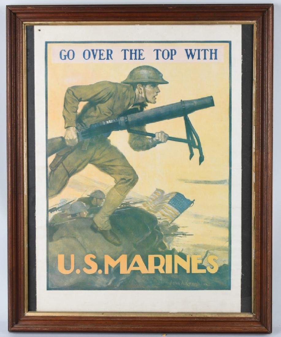 WWI U.S. MARINE CORPS USMC RECRUITING POSTER