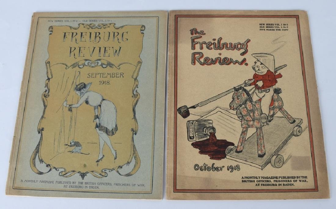 WWI BRITISH POW MAGAZINE LOT - FREIBURG REVIEW