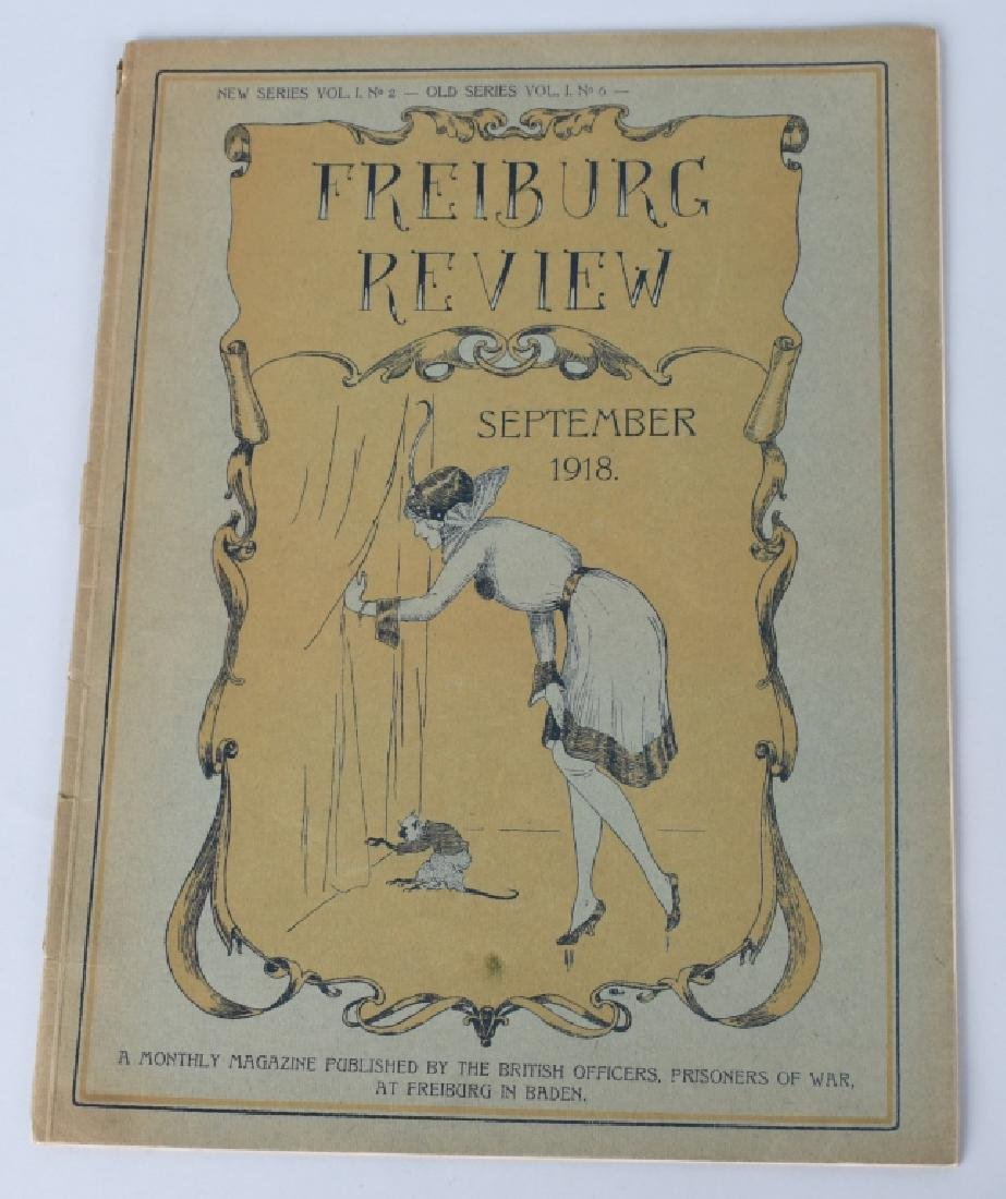 WWI BRITISH POW MAGAZINE LOT - FREIBURG REVIEW - 2