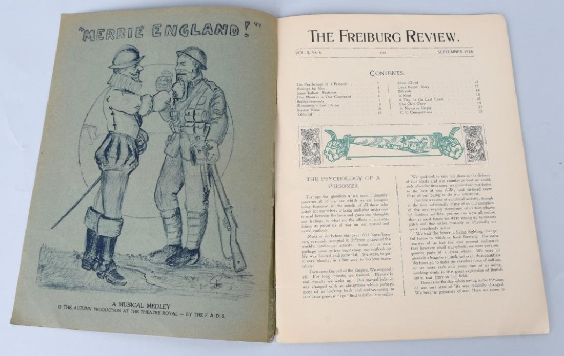 WWI BRITISH POW MAGAZINE LOT - FREIBURG REVIEW - 3