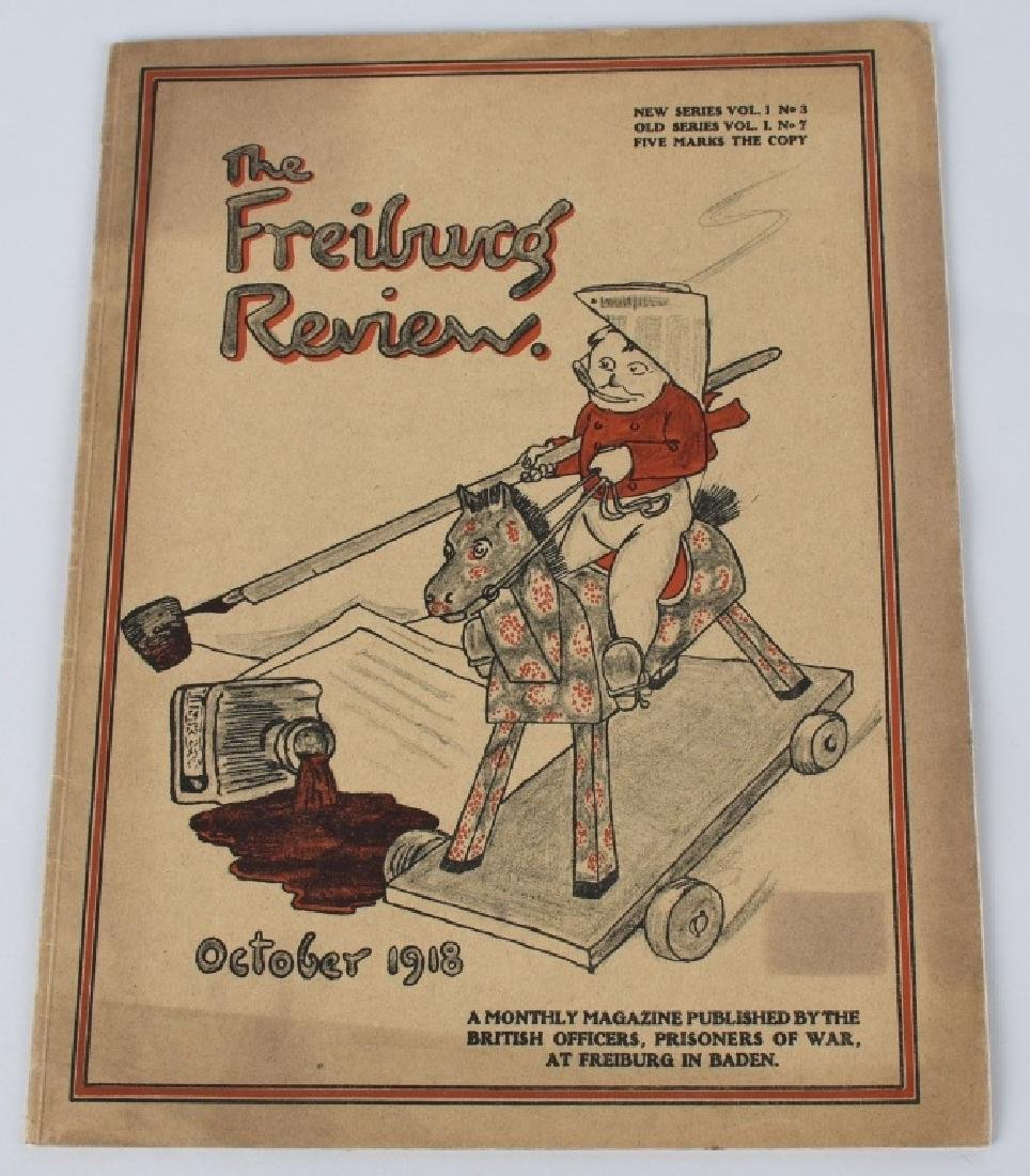WWI BRITISH POW MAGAZINE LOT - FREIBURG REVIEW - 5