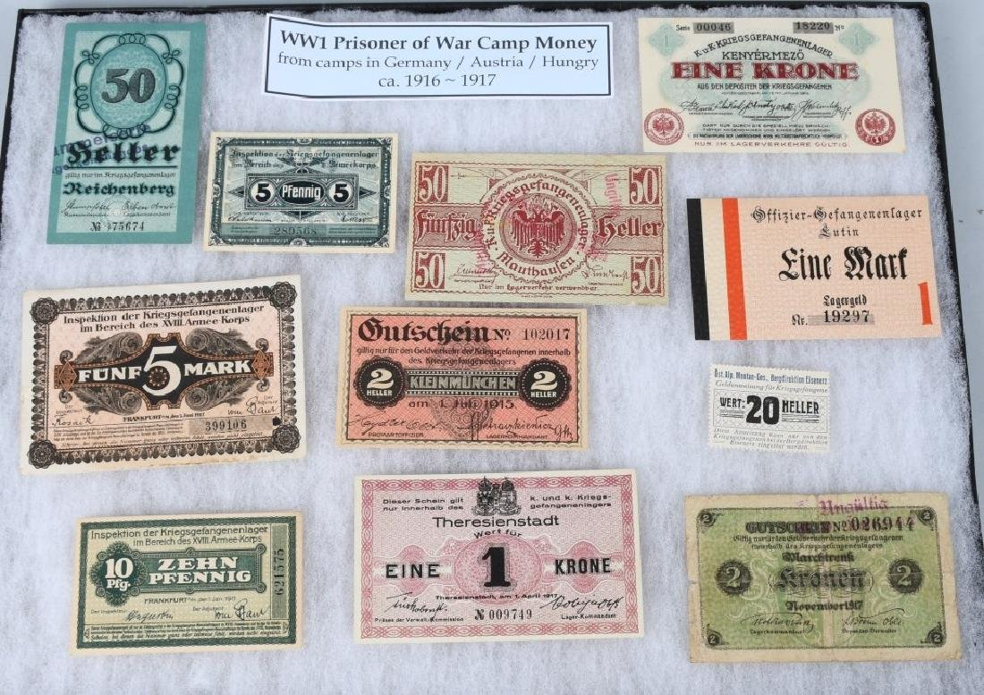 WWI GERMAN AUSTRO/HUNGARIAN POW CAMP MONEY