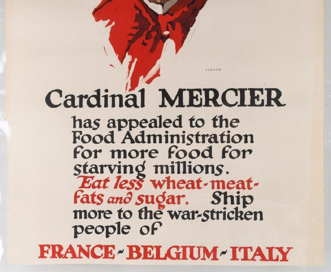 WWI U.S. POSTER FOOD APPEAL FOR STARVING ALLIES - 4