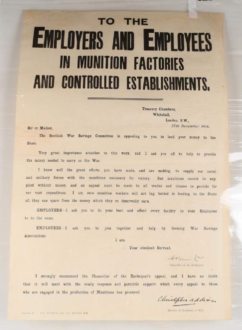 WWI SCOTTISH WAR SAVINGS POSTER - MUNITIONS WORKER