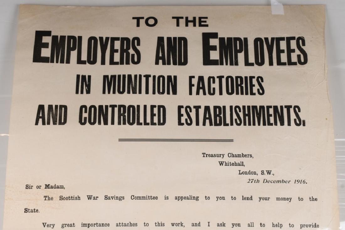 WWI SCOTTISH WAR SAVINGS POSTER - MUNITIONS WORKER - 2