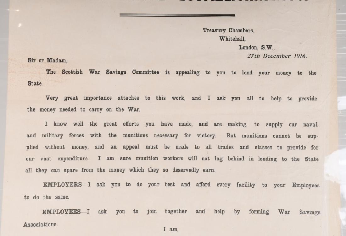 WWI SCOTTISH WAR SAVINGS POSTER - MUNITIONS WORKER - 3