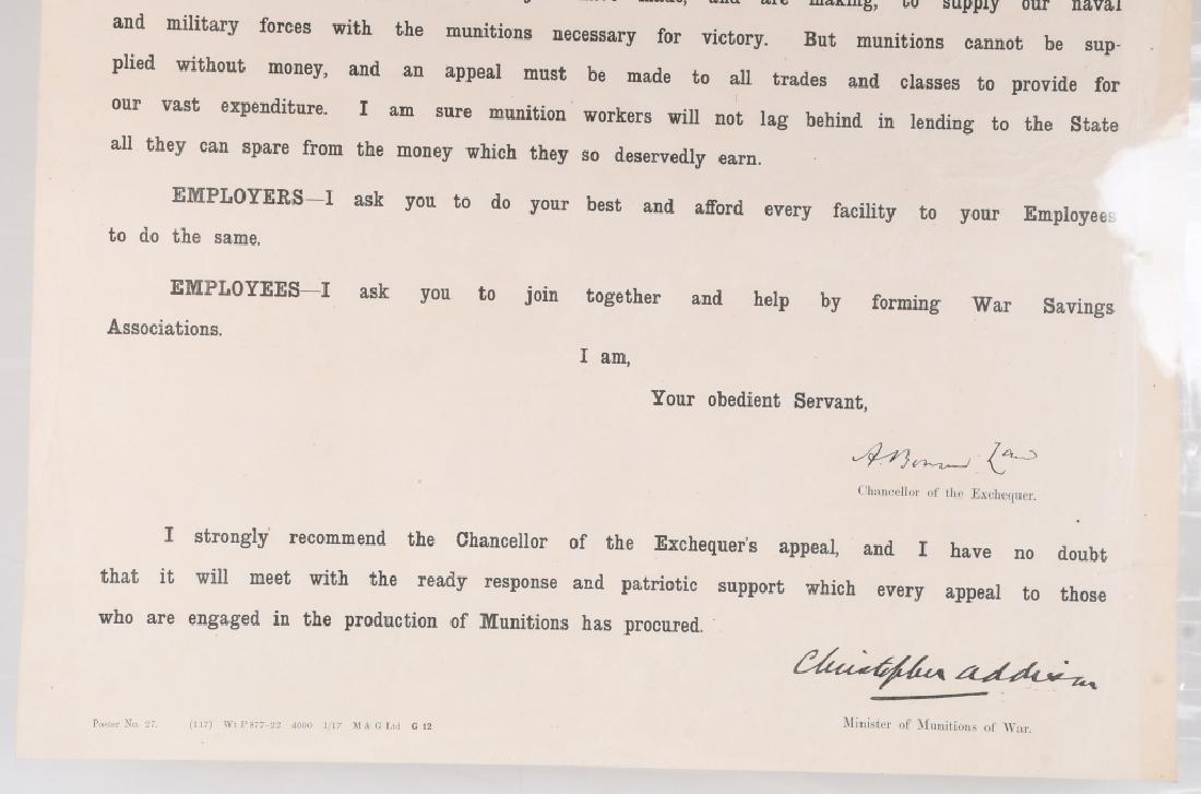 WWI SCOTTISH WAR SAVINGS POSTER - MUNITIONS WORKER - 4