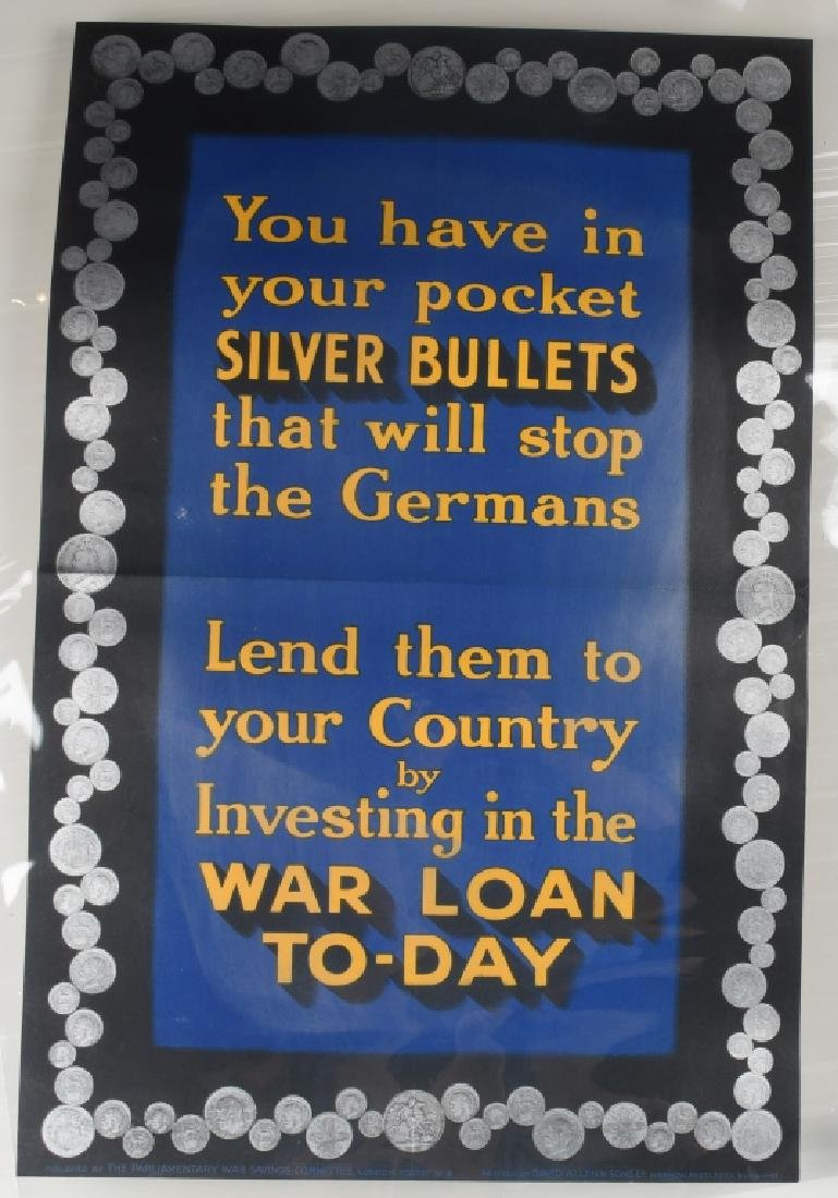 WWI BRITISH POSTER WAR LOAN TO-DAY