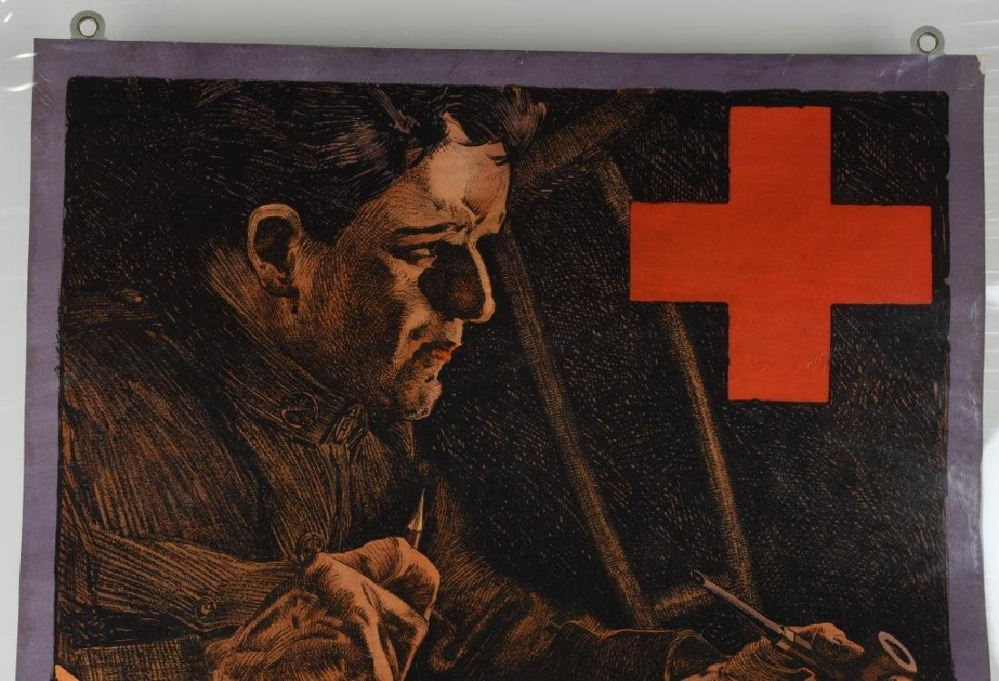 "WWI U.S. AMERICAN RED CROSS ""HE CAN WIN'"" POSTER - 2"