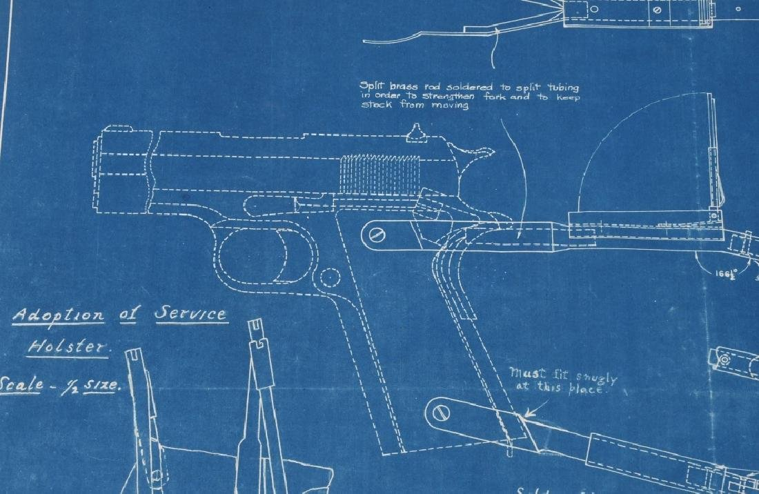 WWI 1918 DRAWING - BLUEPRINT FOR COLT M1911 STOCK - 2