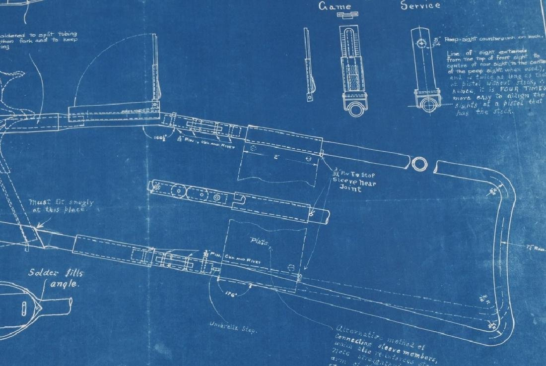 WWI 1918 DRAWING - BLUEPRINT FOR COLT M1911 STOCK - 3