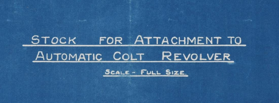WWI 1918 DRAWING - BLUEPRINT FOR COLT M1911 STOCK - 4