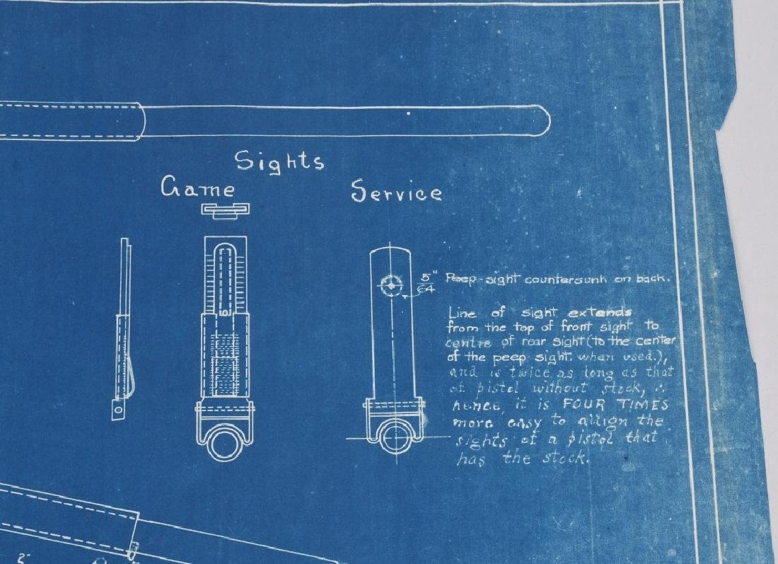 WWI 1918 DRAWING - BLUEPRINT FOR COLT M1911 STOCK - 7