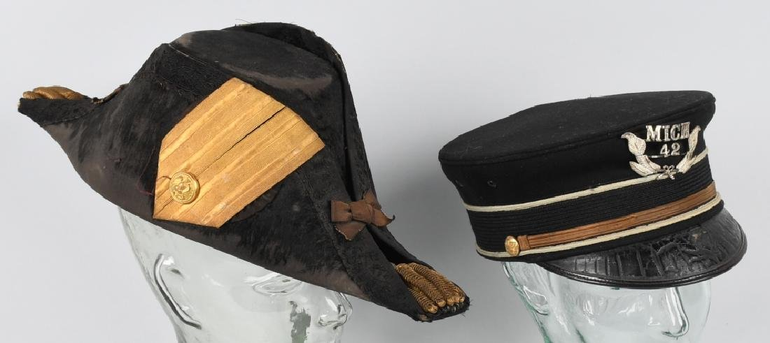 WWI U.S FORE & AFT HAT AND 1892 PATTERN VISOR HAT