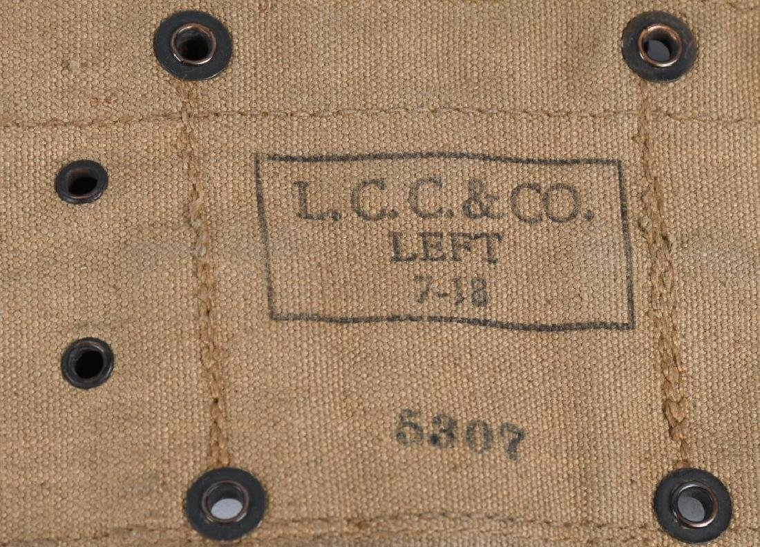 WWI US ARMY RIFLE BELT & .45 POUCH LOT 1916 - 1918 - 3
