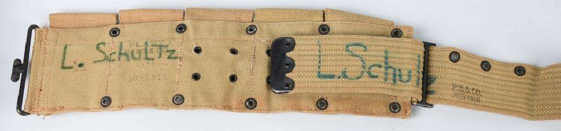 WWI US ARMY RIFLE BELT & .45 POUCH LOT 1916 - 1918 - 9