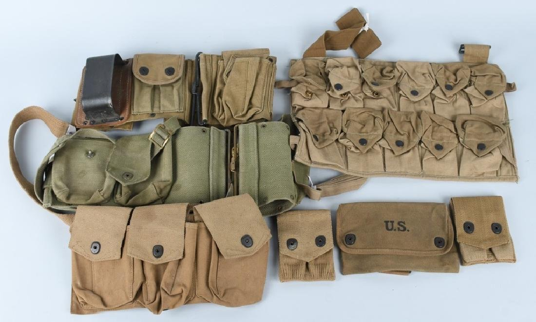 WWI U.S. EQUIPMENT LOT & WW2 BAR BELT