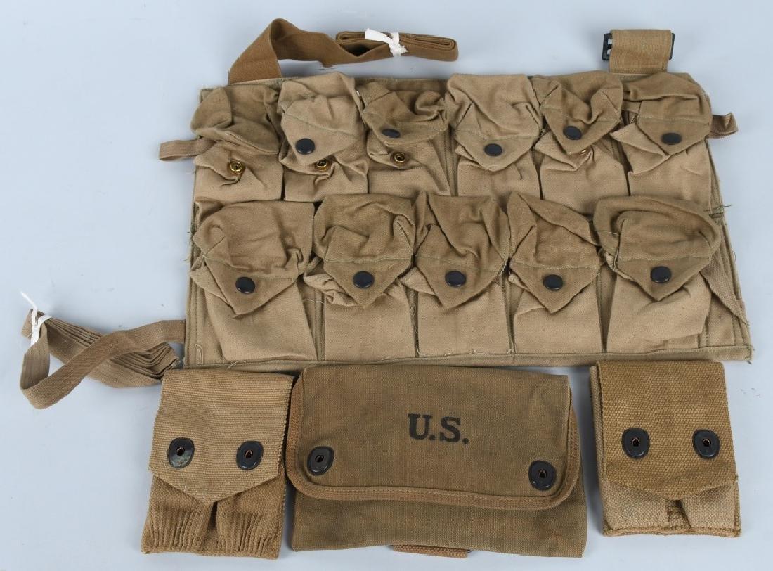WWI U.S. EQUIPMENT LOT & WW2 BAR BELT - 2