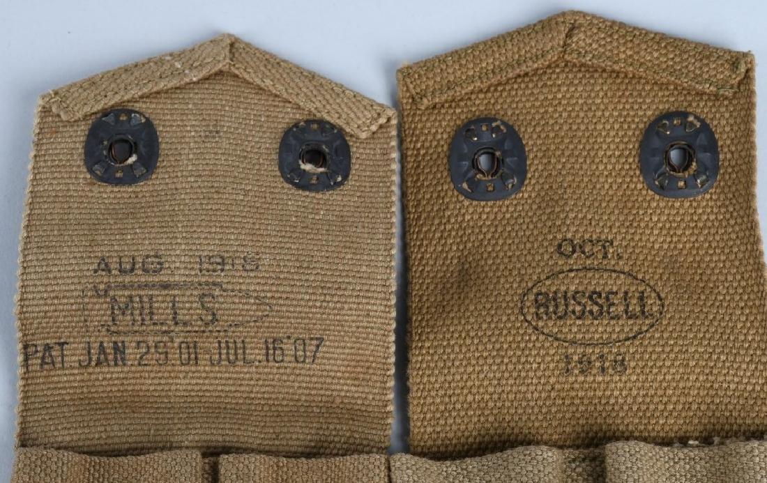 WWI U.S. EQUIPMENT LOT & WW2 BAR BELT - 3