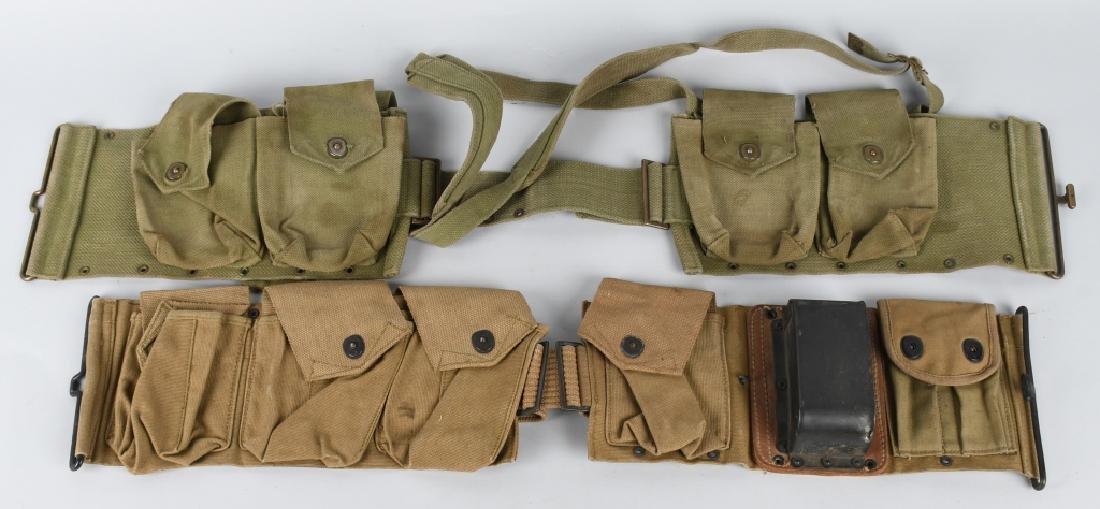 WWI U.S. EQUIPMENT LOT & WW2 BAR BELT - 7