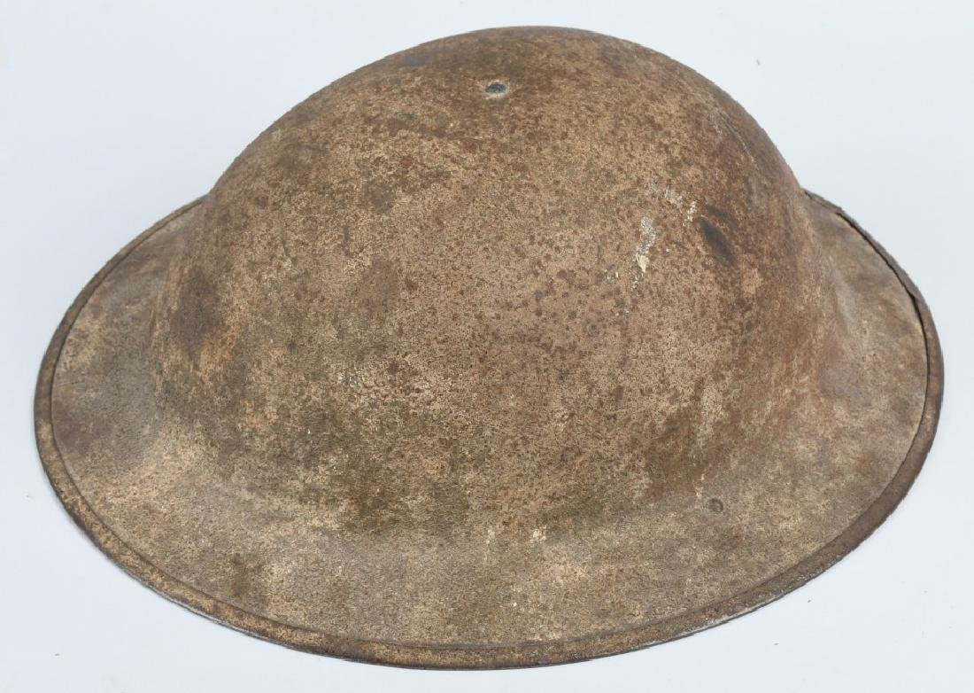 WWI US M 1917 HELMET AND PATCH LOT - 5