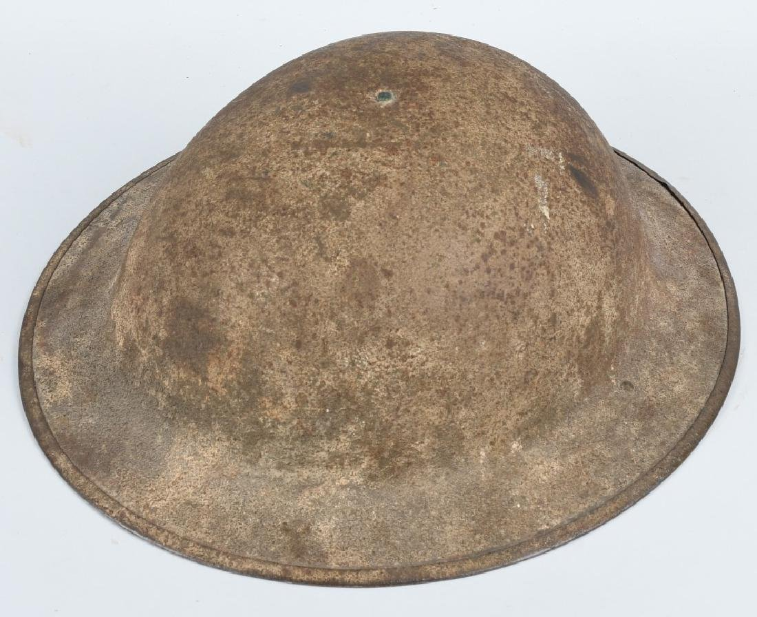 WWI US M 1917 HELMET AND PATCH LOT - 7