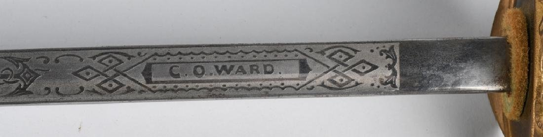WWI M 1852 NAVAL SWORD IDED OFFICER - 10