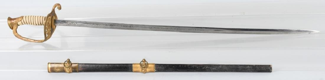 WWI M 1852 NAVAL SWORD IDED OFFICER