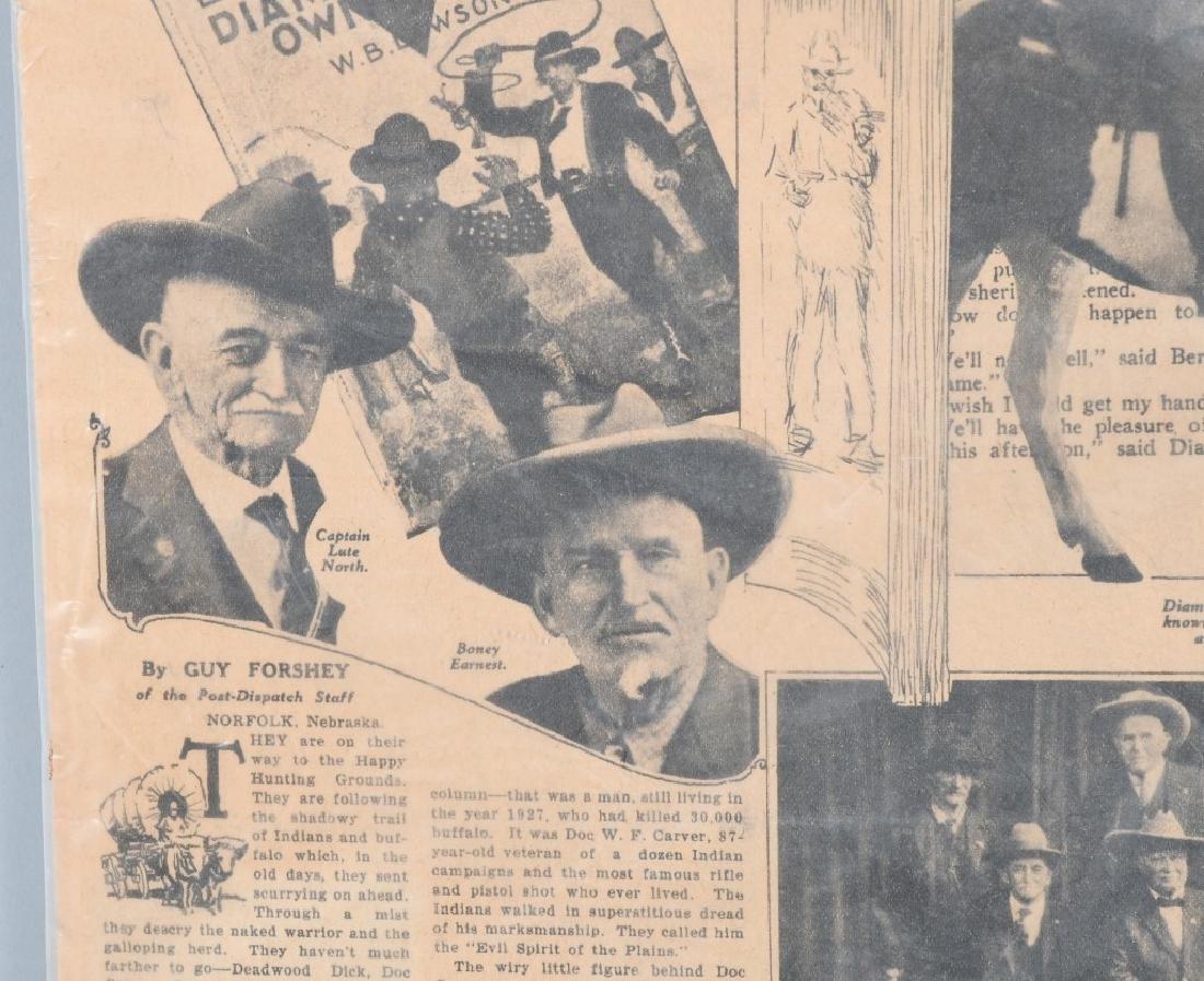 NEWSPAPERS WESTERN HAFIELD DOC CARVER BUFFALO BILL - 11