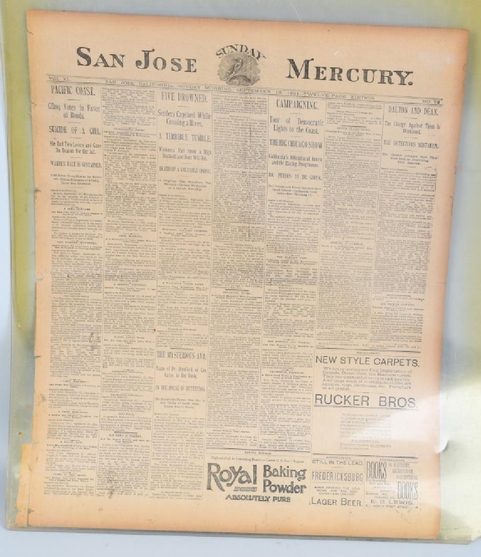 NEWSPAPERS WESTERN HAFIELD DOC CARVER BUFFALO BILL - 12