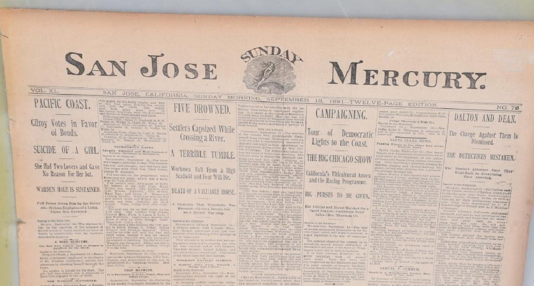 NEWSPAPERS WESTERN HAFIELD DOC CARVER BUFFALO BILL - 13