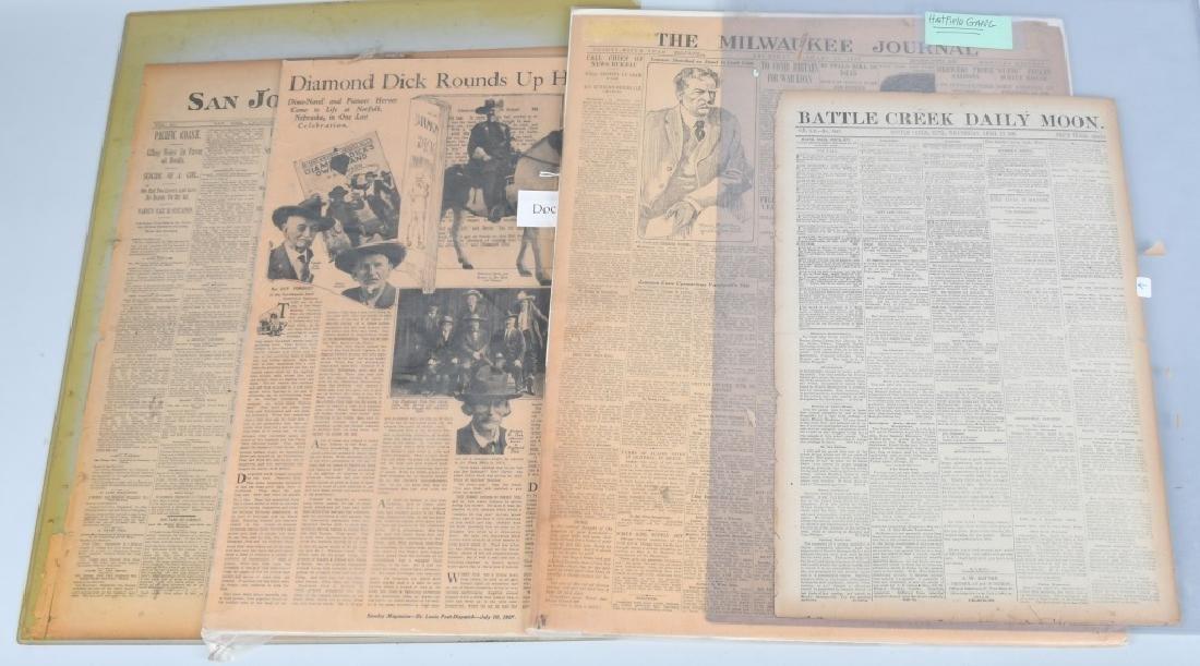 NEWSPAPERS WESTERN HAFIELD DOC CARVER BUFFALO BILL
