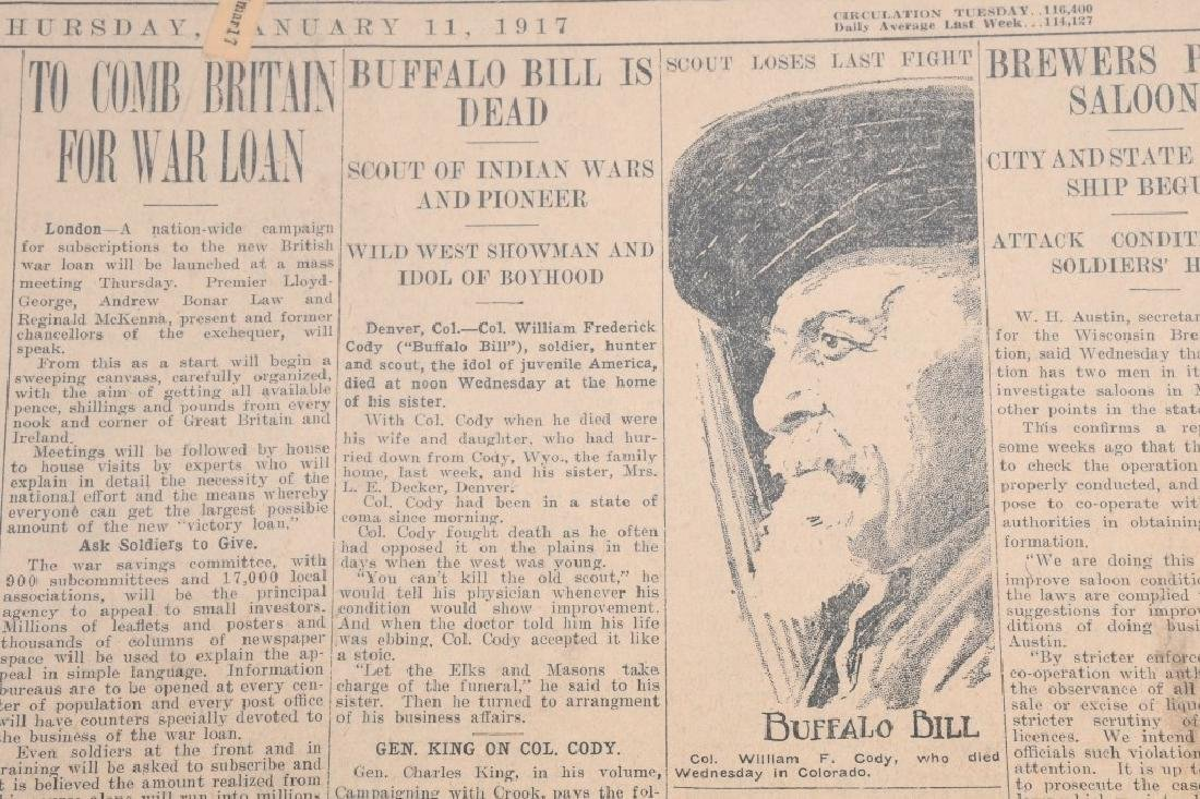 NEWSPAPERS WESTERN HAFIELD DOC CARVER BUFFALO BILL - 6