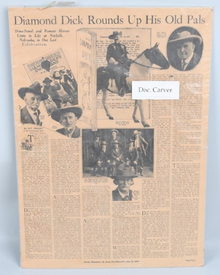 NEWSPAPERS WESTERN HAFIELD DOC CARVER BUFFALO BILL - 7