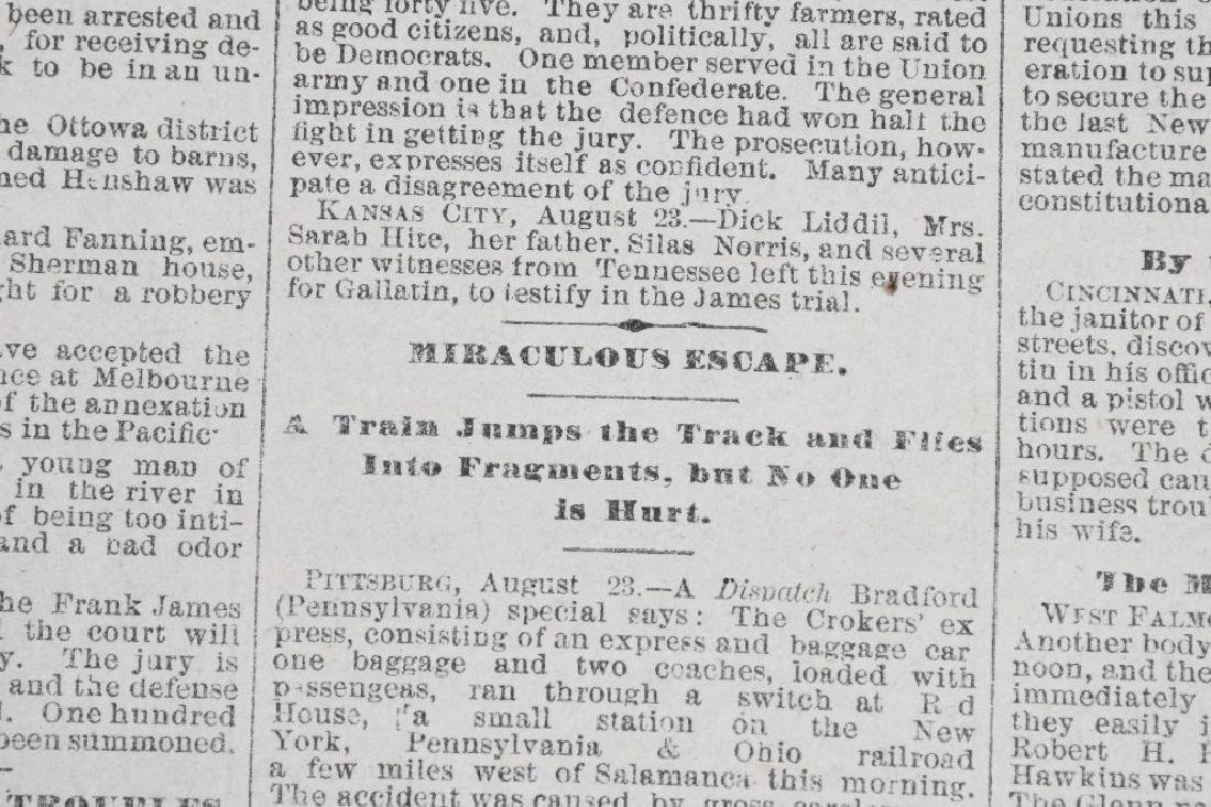 1883 DENVER TRIBUNE NEWSPAPERS - FRANK JAMES TRIAL - 3
