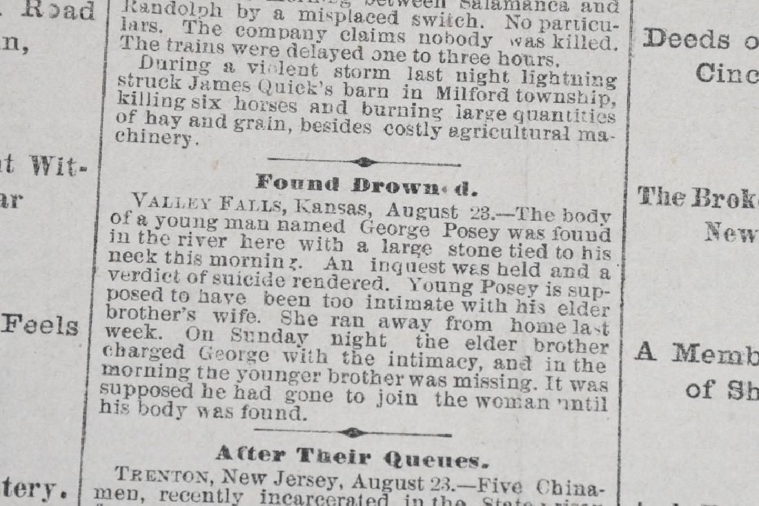 1883 DENVER TRIBUNE NEWSPAPERS - FRANK JAMES TRIAL - 4