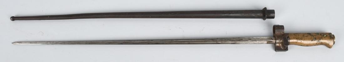 WWI M 1886 LEBEL BAYONET & SCABBARD - FULL LENGTH