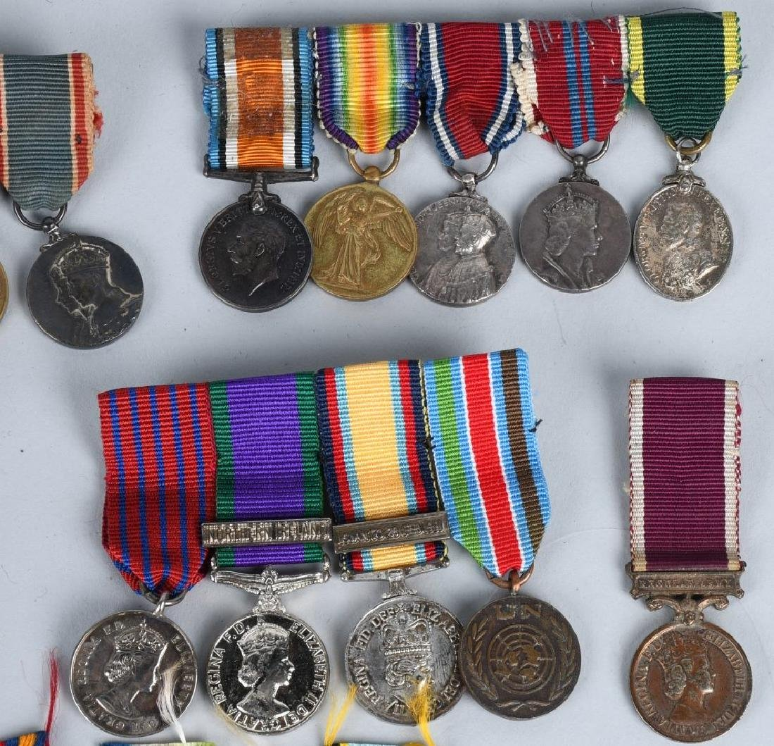 WWI - WWII BRITISH MINIATURE MEDAL BARS & MEDALS - 3
