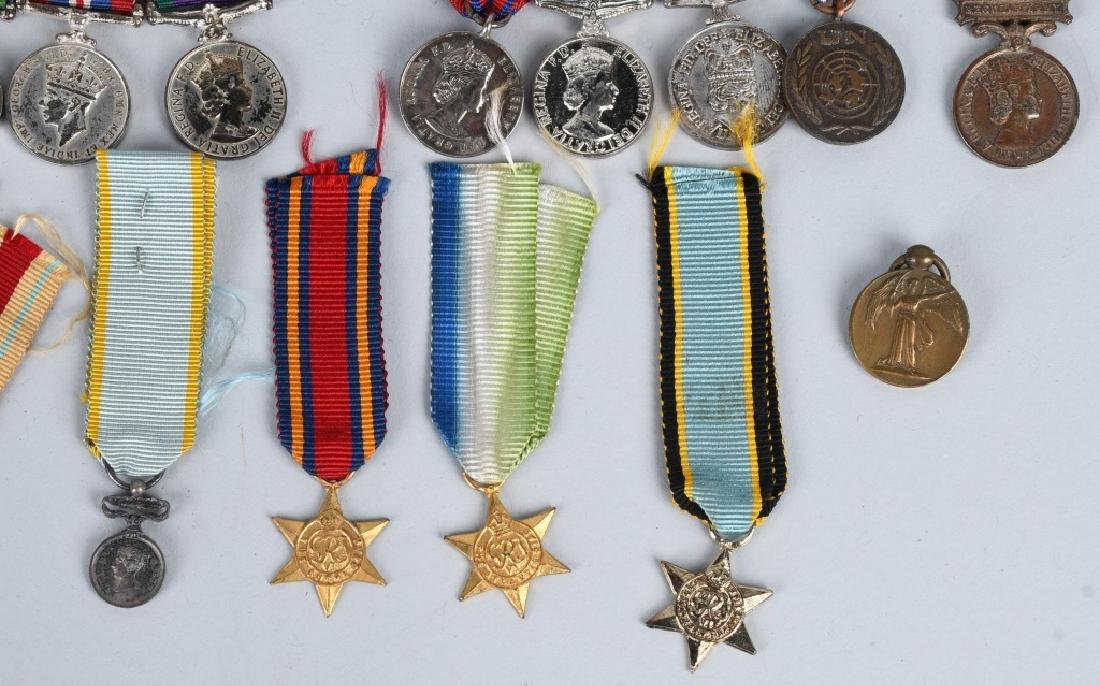 WWI - WWII BRITISH MINIATURE MEDAL BARS & MEDALS - 4