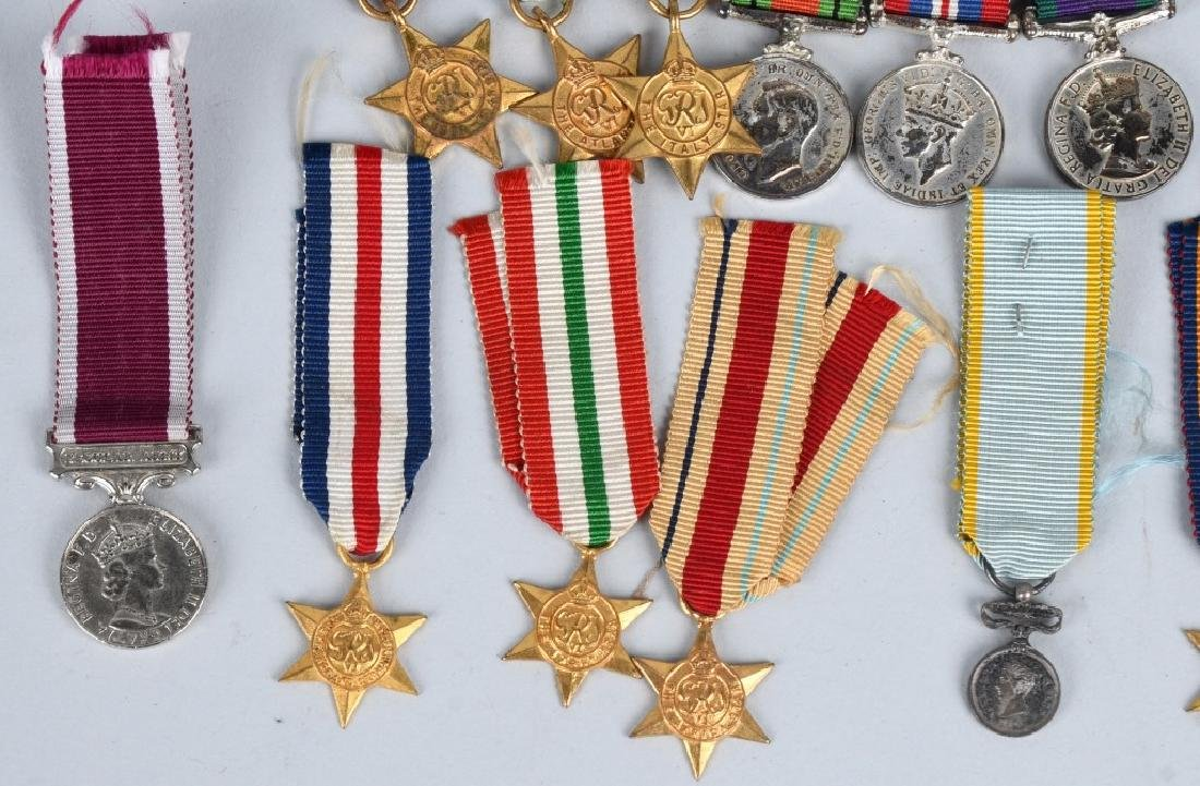 WWI - WWII BRITISH MINIATURE MEDAL BARS & MEDALS - 5