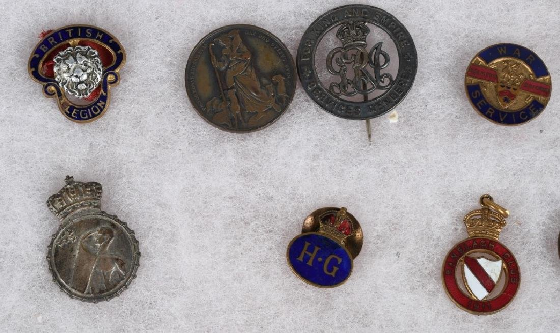 WWI - WWII BRITISH PIN AND MEDAL LOT - 5