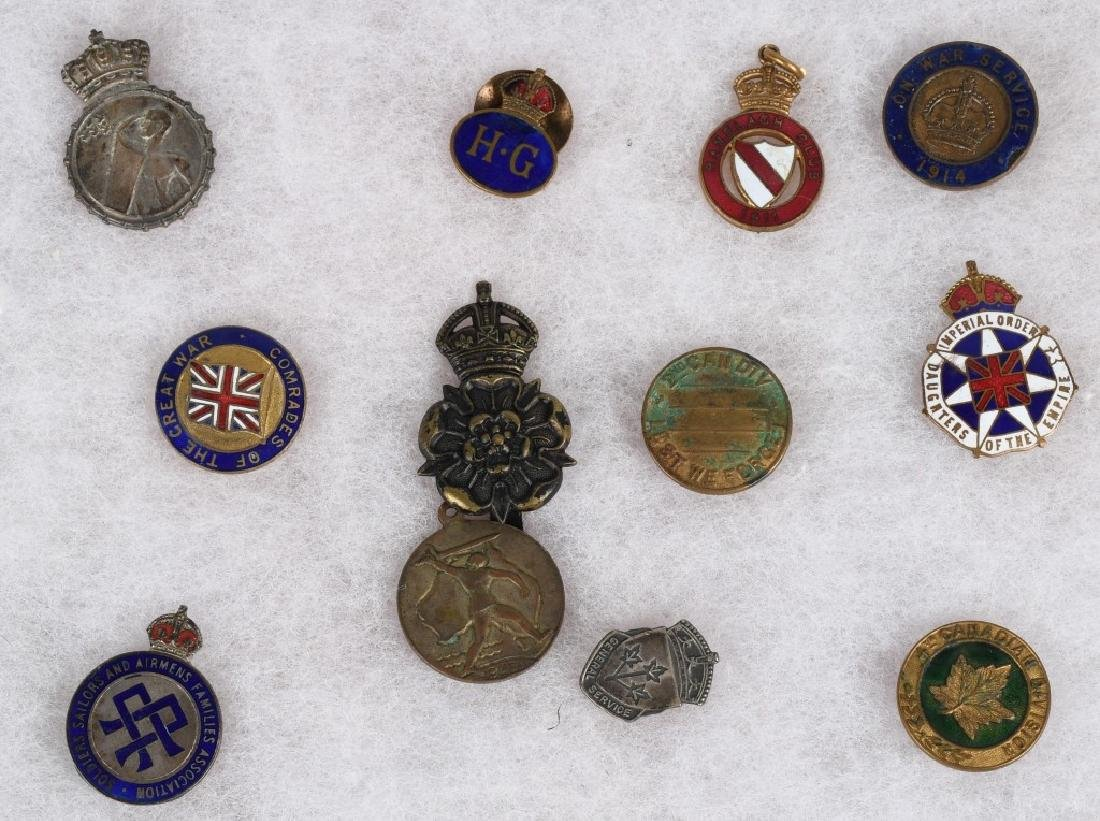 WWI - WWII BRITISH PIN AND MEDAL LOT - 6