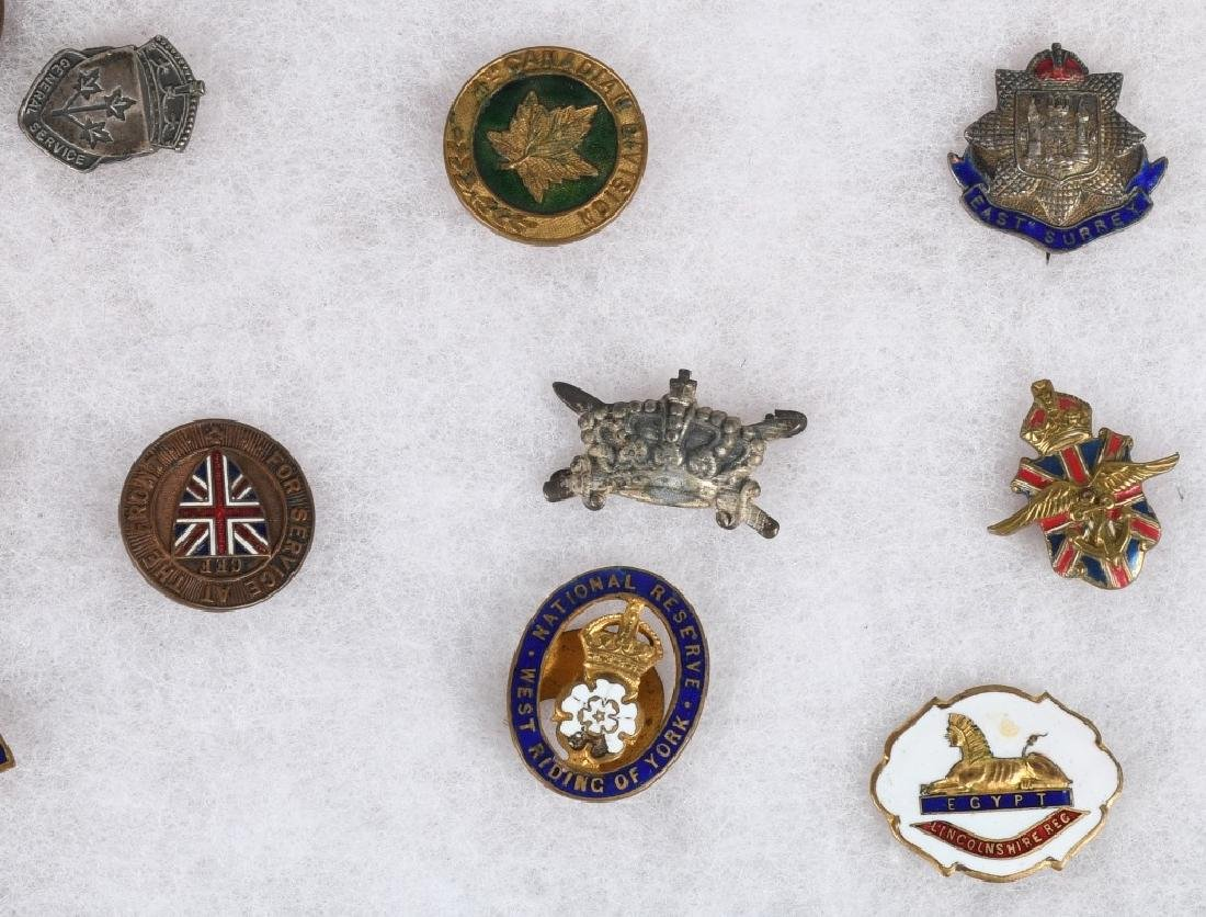 WWI - WWII BRITISH PIN AND MEDAL LOT - 7