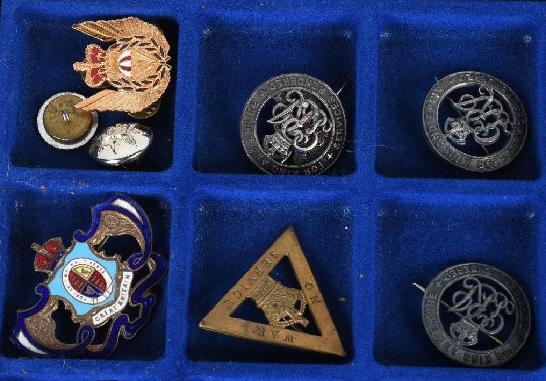 WWI - WWII BRITISH PIN AND MEDAL LOT - 2